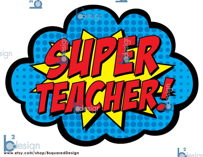 Super Teacher Super Staff Super School 3 signs INSTANT | Etsy