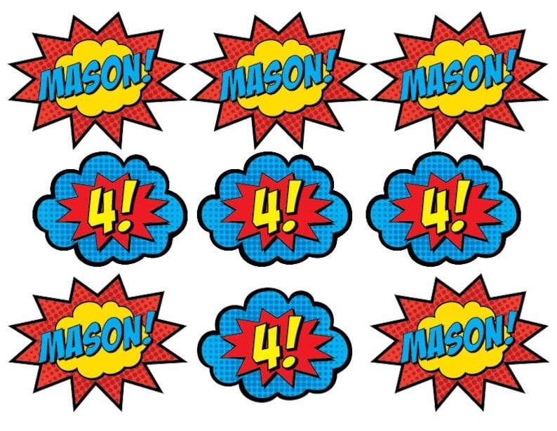 picture regarding Superhero Cupcake Toppers Printable identify Superhero Cupcake Toppers Combine (PRINTABLE)