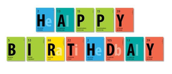 periodic table banner happy birthday banner 85 x 11