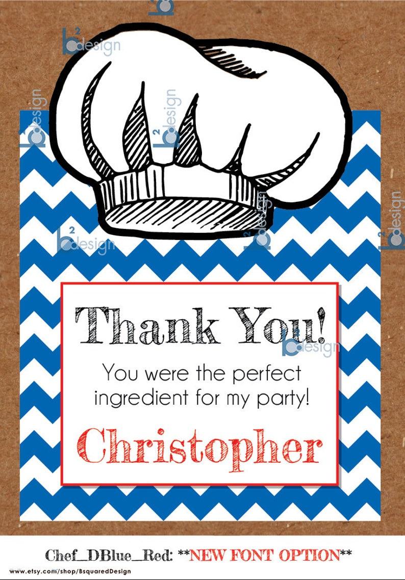 Cooking Gift Bag Label \u2022  Labels ONLY \u2022 6x 8 \u2022 Large \u2022 Printed