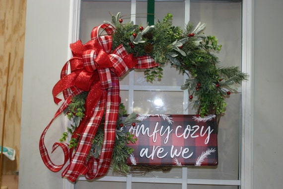 Christmas Plaid grapevine   Wreath