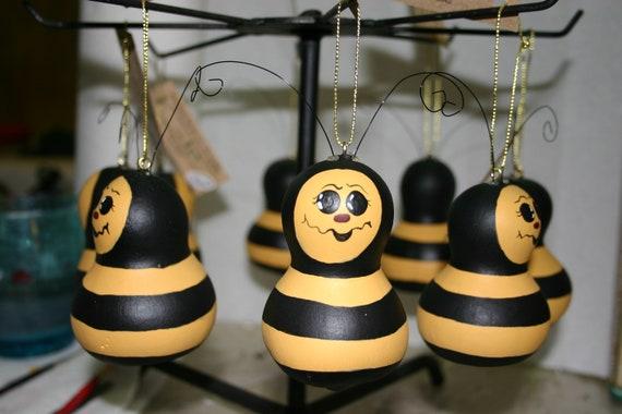 Set of 5 Bee Ornaments