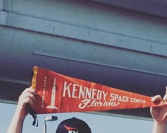 American Roadtrip Pennant Pillow Kennedy Space Center Florida