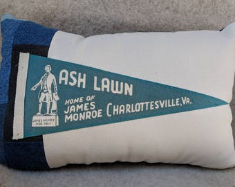 American Roadtrip Pennant Pillow, Charlottesville, Virginia