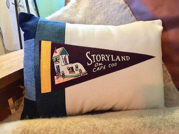 American Roadtrip Pennant Pillow Storyland Of Cape Cod Etsy Interesting Cape Cod Decorative Pillows