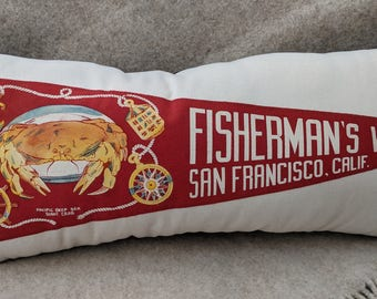 American Roadtrip  Pennant Pillow, Fisherman's Wharf, San Francisco, California