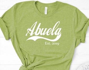 7b2c5c10e5 ABUELA Est, pregnancy announcement, baby announcement, Spanish shirt, Spanish  grandma, grandma shirt, grandma gift, abuela shirt, abuela