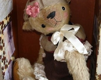 PDF epattern for 20 Teddy Bear French Beauty plus the dress and hat patterns by Sasha Pokrass