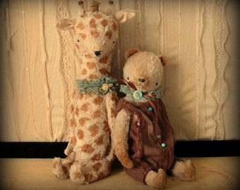 SUPER DEAL 9 inch Bear and 11 Giraffe Pdf EPatterns and instructions by Sasha Pokrass