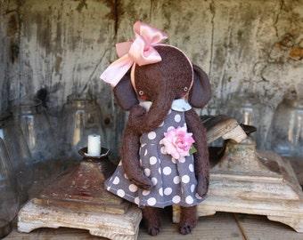 PDF Epattern for 11 inch Mohair Elephant Rita - the pattern for the dress is included - by Sasha Pokrass