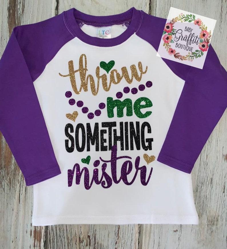 34c12d479 Toddler Mardi Gras Throw Me Something Mister Raglan Toddler | Etsy