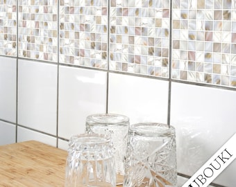 """TILE STICKERS - set of 4 - """"PEARL 01"""""""