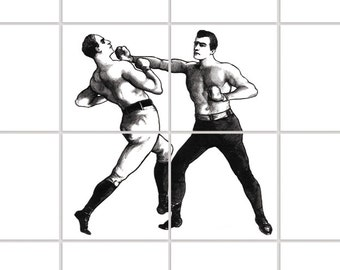 BOX GYM > Tile Decals - set of 4