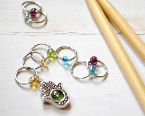 Symbol of Protection / Knitting Stitch Marker Set / Snag Free / Small Medium Large Sizes Available