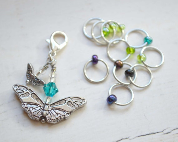 Knitting Stitch Markers - The Butterfly / Snag Free / Small Medium Large Sizes Available