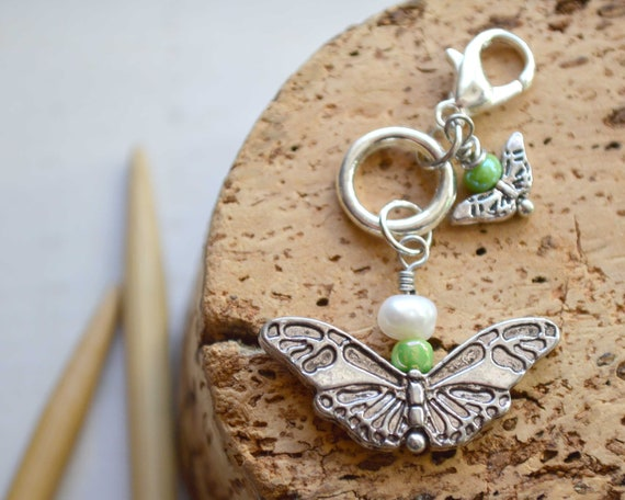 Knitting Stitch Marker - The Butterfly / Removable or Progress Stitch Marker / Single Stitch Marker for Knitters