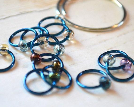 Knitting Stitch Markers - Aurora - Dangle Free, Snag Free Knitting Stitch Markers - Multiple Sizes Available