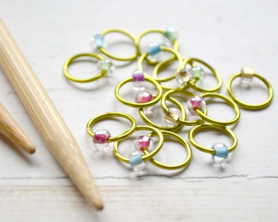 Stitch Markers - Crystal Rainbow - Dangle Free, Snag Free Knitting Stitch Markers - Multiple Sizes Available