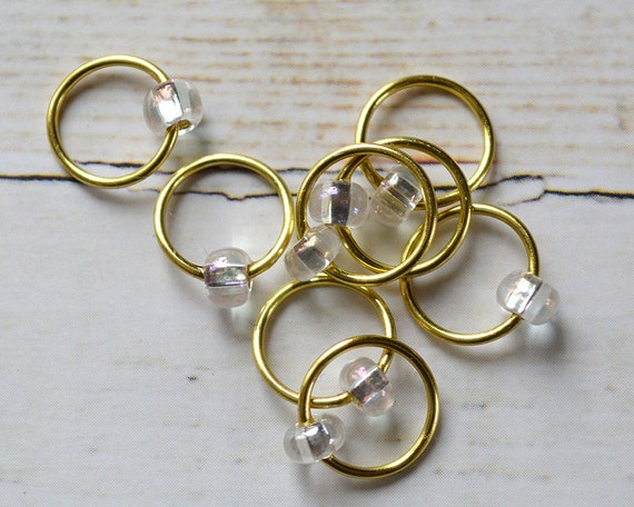 Palomino / Stitch Markers - Dangle Free Snag Free Knitting Stitch Markers - Small Medium Large Sizes Available