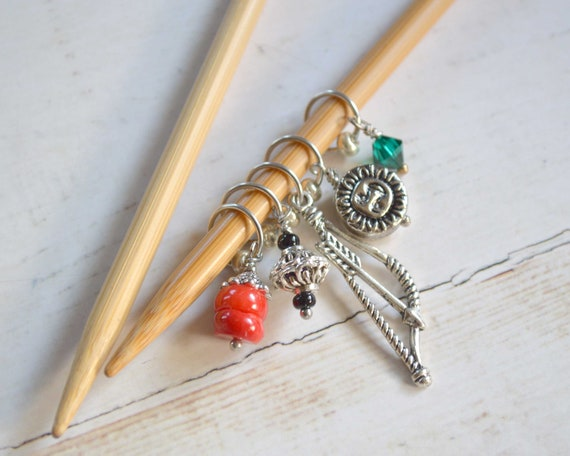 Knitting Stitch Markers - Dusk to Dawn / Snag Free / Multiple Sizes / Knit and Crochet Option Available
