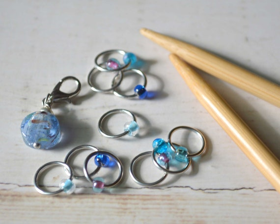 Stitch Markers - Watercolor / Snag Free Knitting Stitch Markers / Multiple Sizes Available