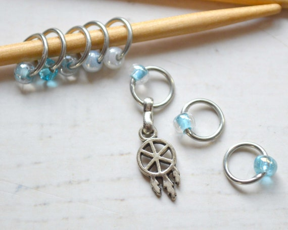 Knitting Stitch Markers - Dreamcatcher / Snag Free / Multiple Sizes Available