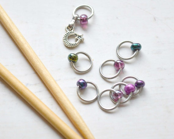 Knitting Stitch Markers - Cosmic / Snag Free / Multiple Sizes Available