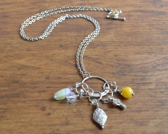 Knitting Stitch Marker Necklace - Faith / Snag Free / Small - Medium - Large Sizes Available