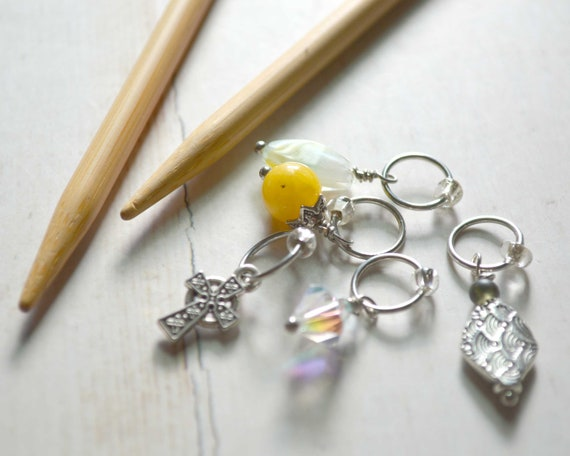 Knitting Stitch Markers - Faith / Snag Free / Multiple Sizes / Knit and Crochet Option Available