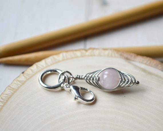 Knitting Stitch Marker - Wrapped Rose / Removable or Progress Stitch Marker / Single Stitch Marker for Knitters