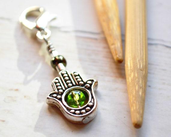 Symbol of Protection / Knitting Progress Marker  / Removable Stitch Marker / Crochet Stitch Marker / Locking Stitch Marker