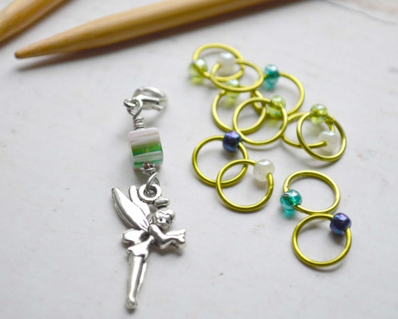 Stitch Markers - Forest Fairy / Snag Free Knitting Stitch Markers / Multiple Sizes Available