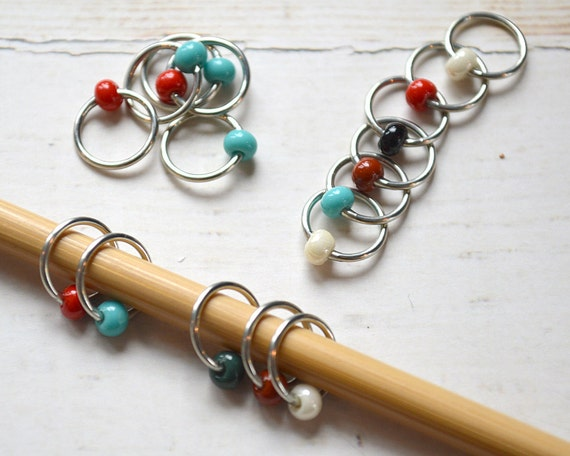Stitch Markers - Cherokee - Dangle Free, Snag Free Knitting Stitch Markers - Multiple Sizes Available