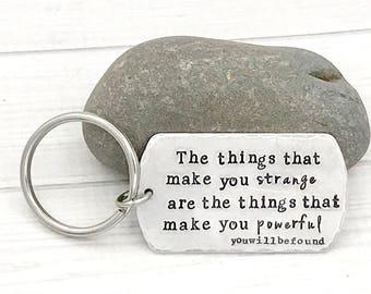 Things that make you powerful • Dear Evan Hansen Keychain • Dear Evan Hansen Fan Gift • Ben Platt Tony Speech • Inspirational Quote Keychain