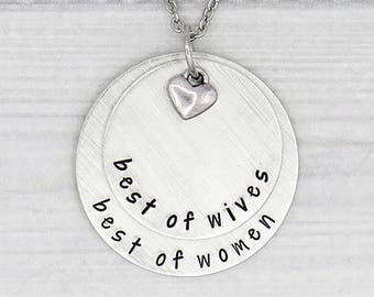 Best of Wives Best of Women • Hamilton Necklace • Hamilton Fan Gift • Anniversary Gift
