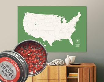 Push Pin US Map Lagoon Road Trip With Kids Make A Map Etsy - Create a pinpoint map