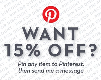 15% Discount on Any Order when you Pin