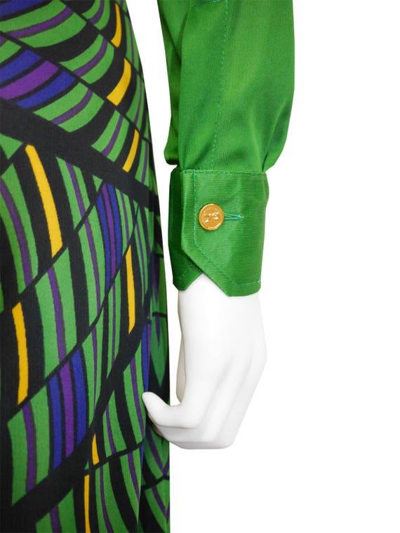 Size 1970s Green 4 l'Oeil Trompe Xsmall di Camerino US Dress Vintage Maxi Roberta q8HOwvqE