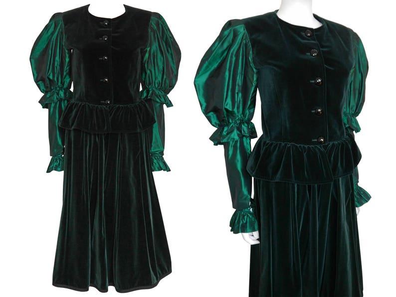 d16a0c2109 Yves Saint Laurent YSL 1970s Vintage 3 pc. Velvet Skirt Suit