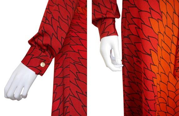Belt 8 Trompe Dress Size Camerino with di US Medium l'Oeil 1970s Vintage Maxi Roberta THx1Rq7a