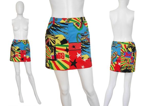 Multi 6 Rastafari Stretch Small Size Reggae Vintage Denim Mini Skirt Inspired Coloured US DIOR Bob CHRISTIAN Marley zEZPwqaf