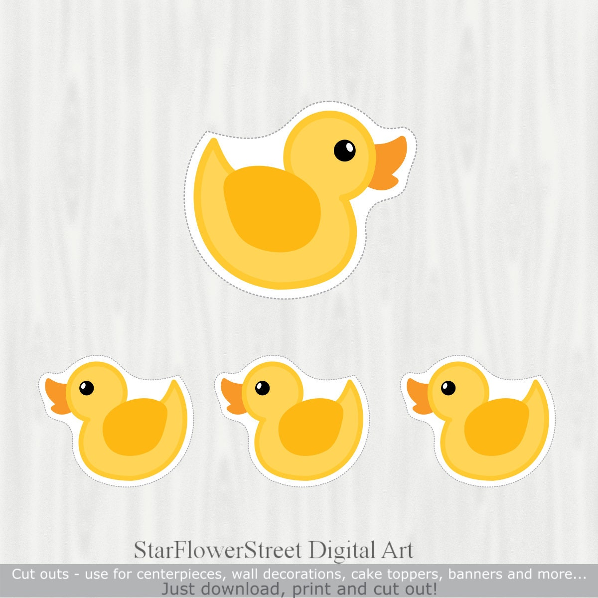 Duck Baby Shower Decorations cut outs centerpiece wall décor | Etsy