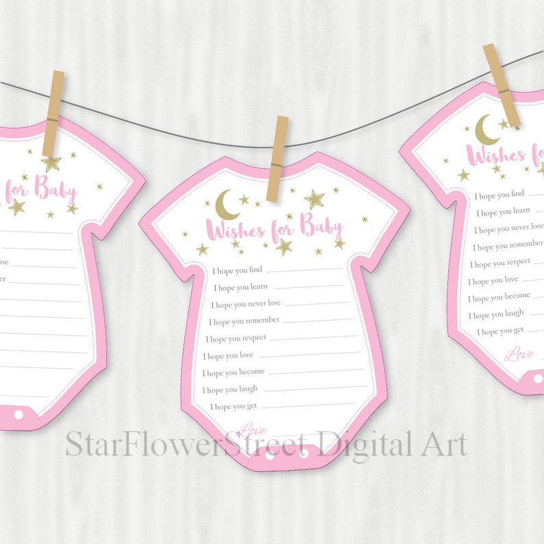 Twinkle Twinkle Little Star Baby Shower Decorations pink gold image 0