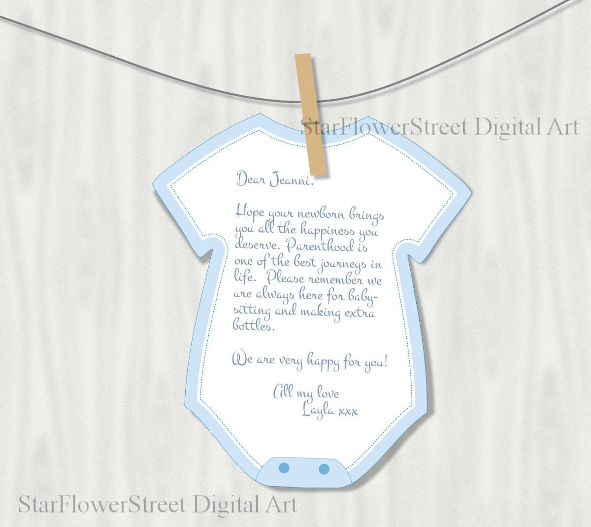 Fancy Wishes For Baby Printable Template Motif - Resume Template ...