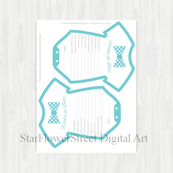 Bow Tie Baby Shower Decorations little man turquoise blue wishes for baby banner baby boy game advice bowtie printable washing line onepiece