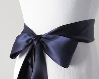 Dresden Blue Bridal Sash / Double Face Sash  Ribbon /  Ribbon Sash /  12ft / 9ft / 6 ft sash