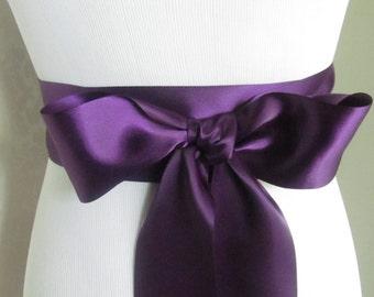 Deep Purple Double Face Sash  Ribbon /  Ribbon Sash