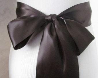 Licorice Double Face Sash  Ribbon /  Ribbon Sash / DIY Sash /