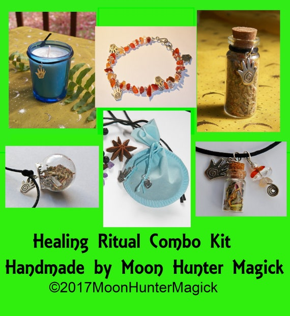 Healing Magick Combo Kit Healing Ritual Reiki Aromatherapy Healing Ritual Altar Kit