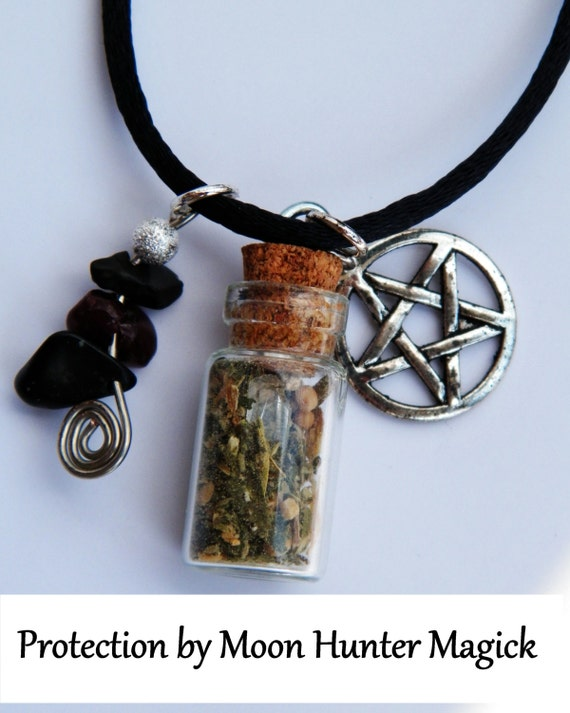 Protection Amulet Charm Bottle Necklace 20+ yrs exp
